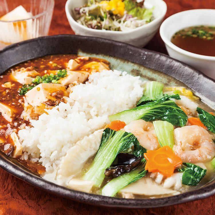 Seafood chukadon with Mapo …