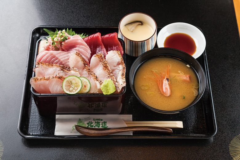 Seafood(Sashimi) Don with Blackthroat and Tuna