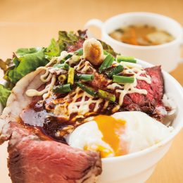 Roast beef Donburi