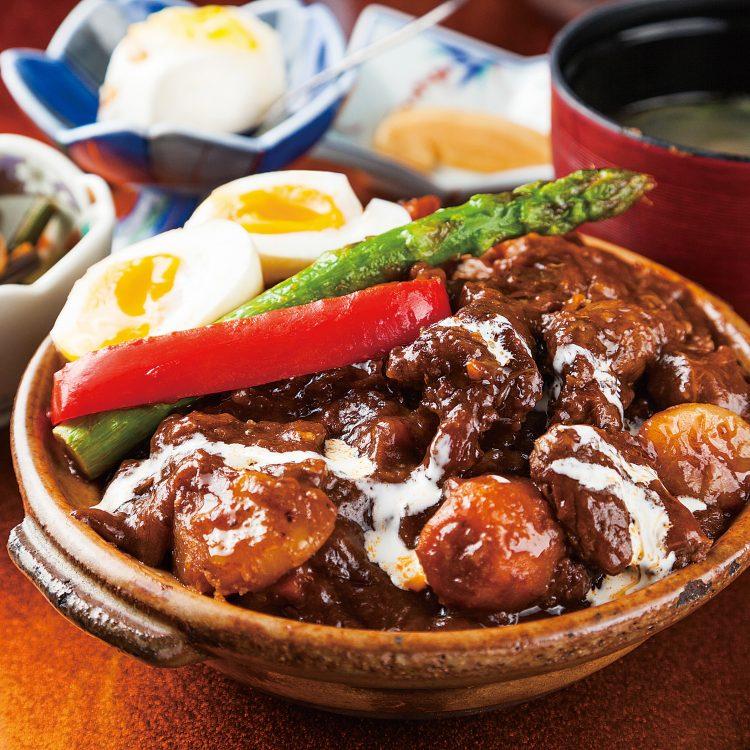 Beef stew Donburi