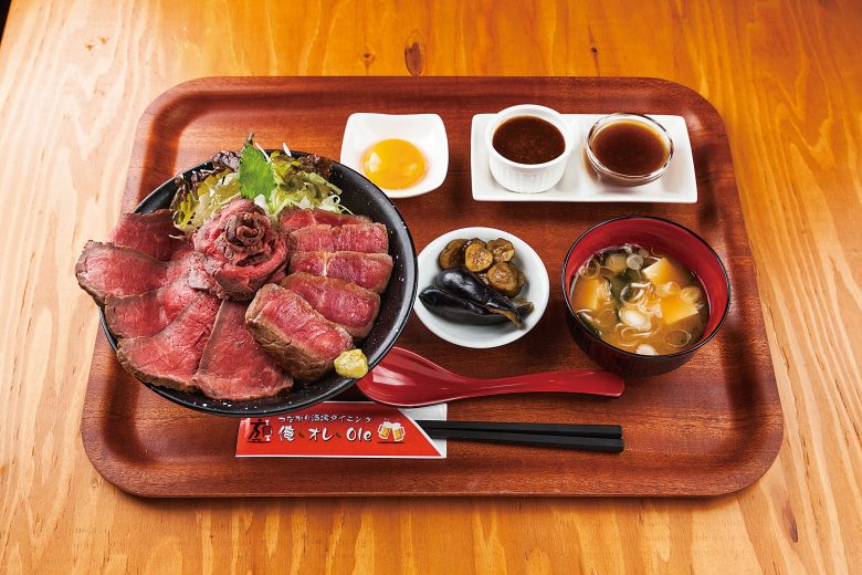 Steak Donburi with Roast beef