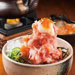 Seafood Donburi with Bream …