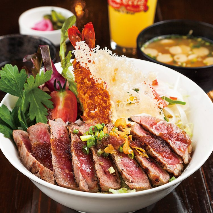 Steak Donburi with Fried pr…