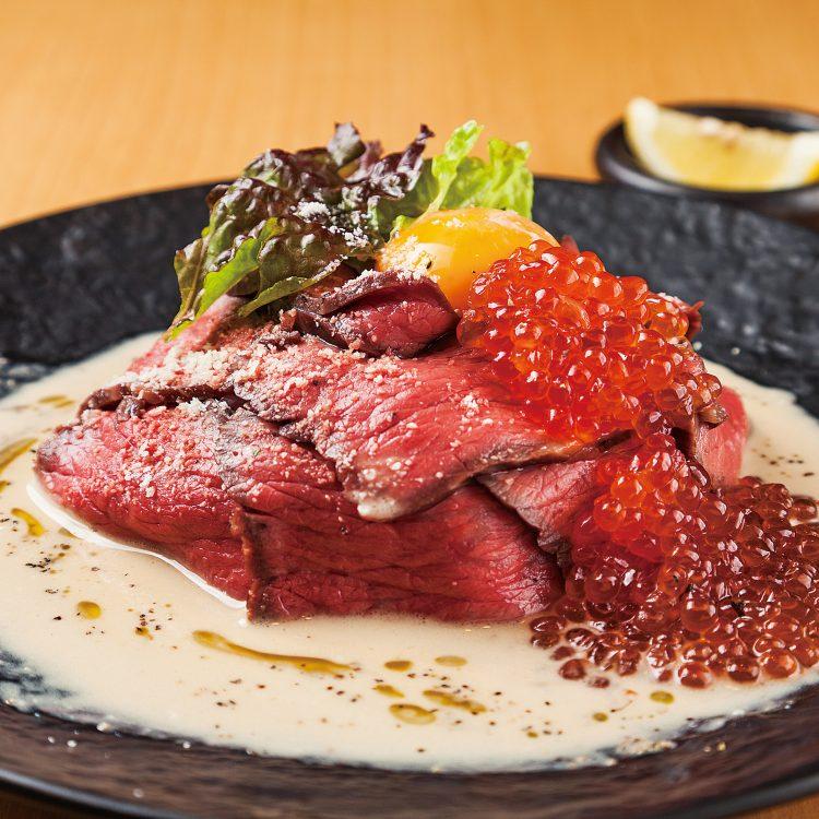 Japanese beef with ikura Do…