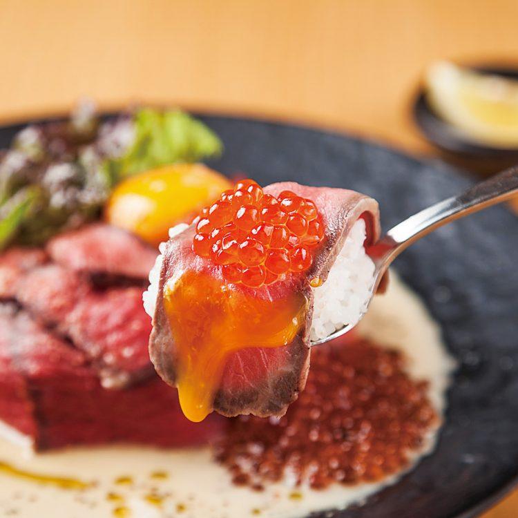 Japanese beef with ikura Donburi