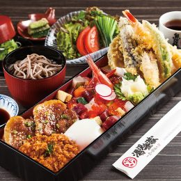 和豚もちぶたとバラちらし寿司の魚沼食べ尽くし御膳