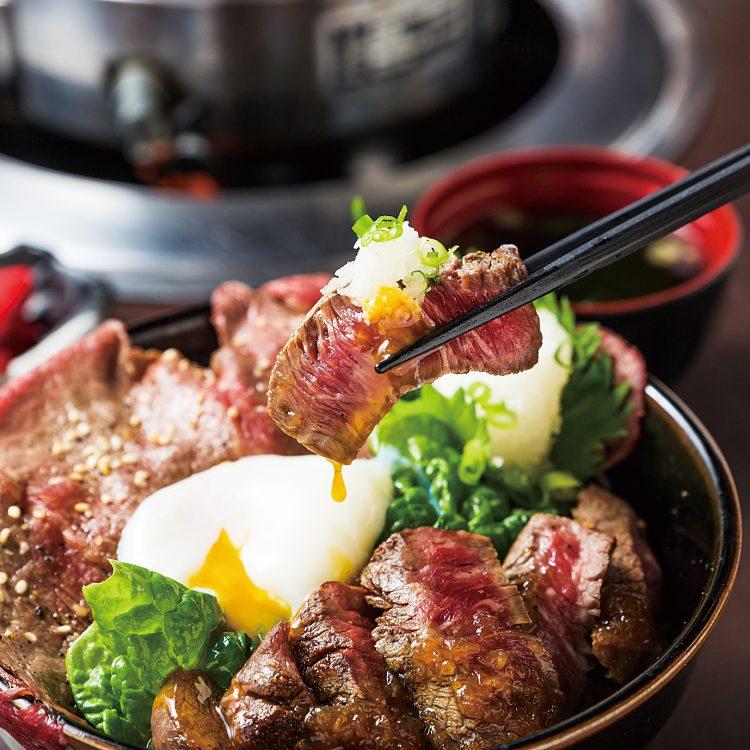 櫻井畜産の黒毛ワイン牛レアステーキ令和ver.『魅力 ぎゅうぎゅう丼』
