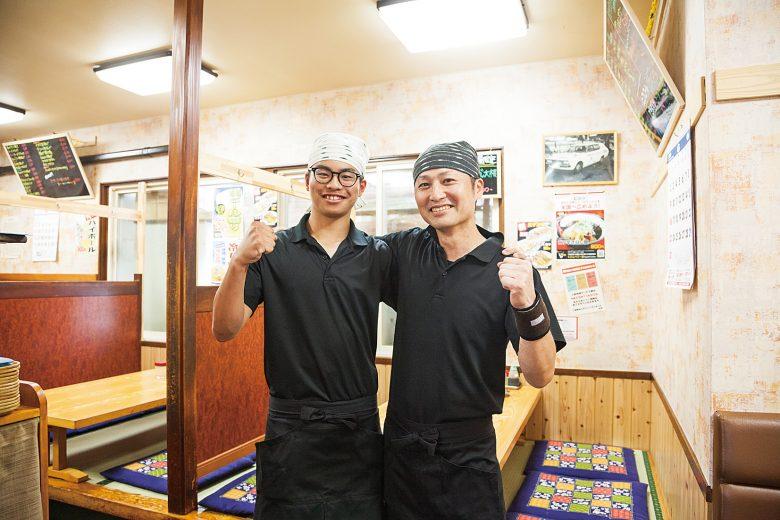 【2019】肉海鮮中華丼 煮卵添え