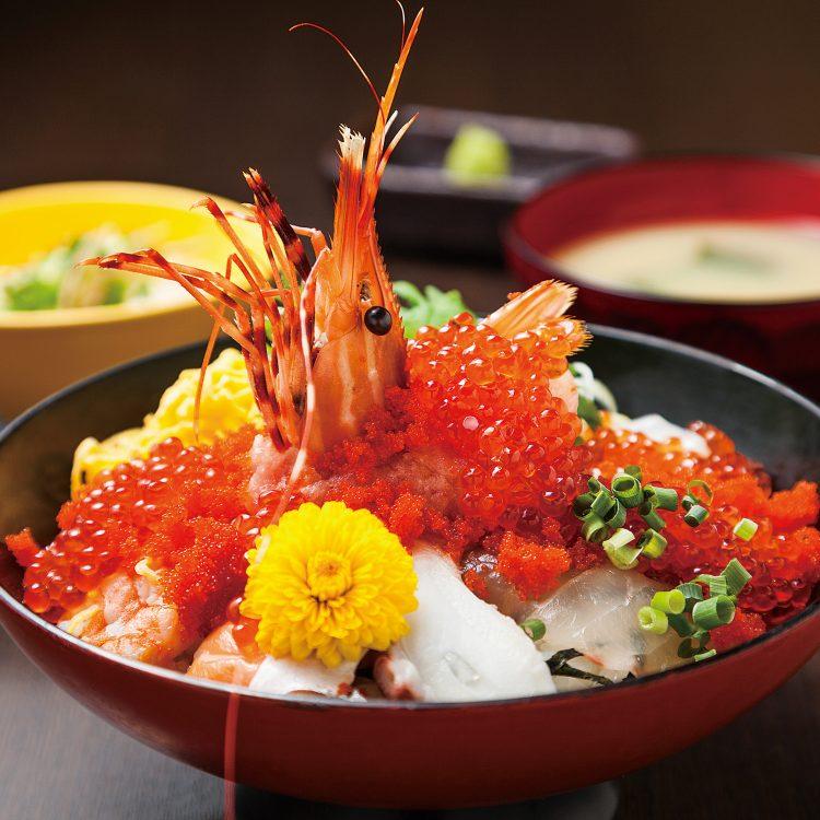 (日本語) 贅沢のっけ丼