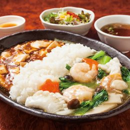 (日本語) 麻婆・海鮮二色中華丼