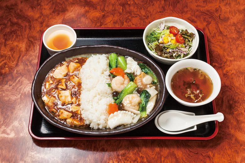 麻婆・海鮮二色中華丼