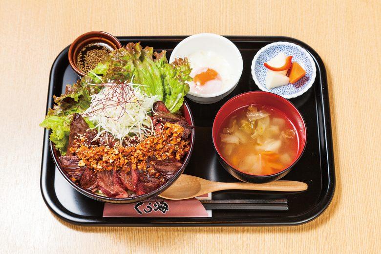 (日本語) 出現率4%!幻の牛肉を使った4つの旨味あふれる超厚切りステーキ丼