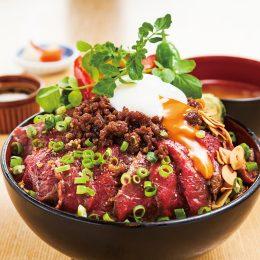(日本語) 新潟の旨いもの全部のせステーキ丼