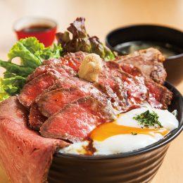 (日本語) 2種のローストビーフ丼