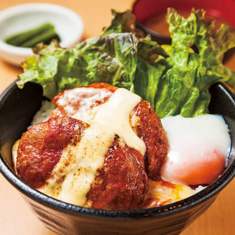 (日本語) 妻有ポークWハンバーグ丼