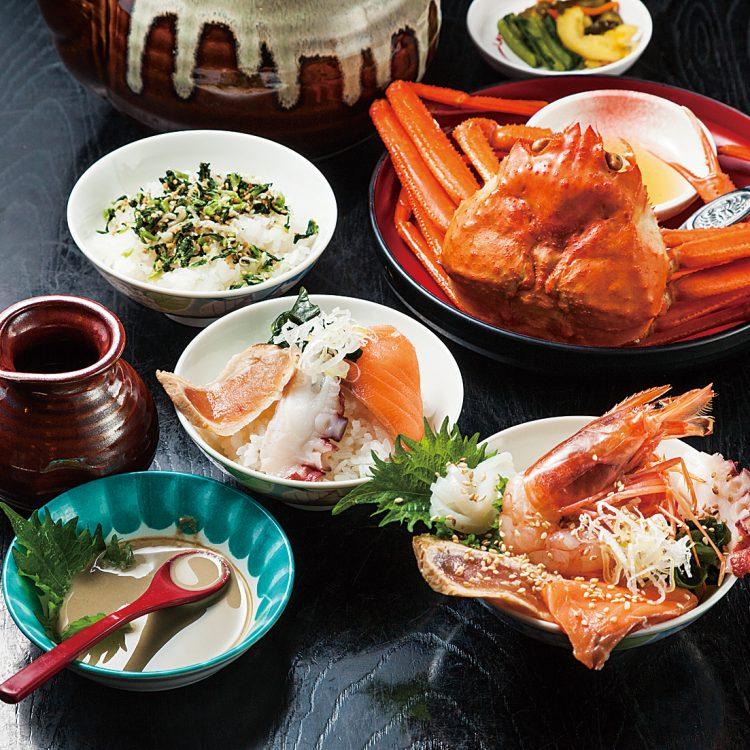(日本語) 元祖!!かに味噌醤油!?で食べる…。 海鮮…