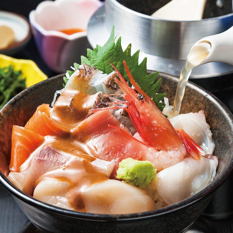 (日本語) 海鮮胡麻ダレ茶漬け