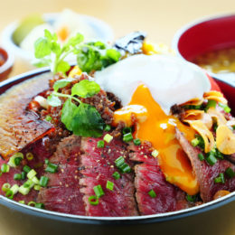 [:ja]新潟の旨いもの 全部のせステーキ丼[:]