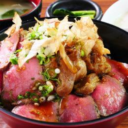 """[:ja]国産牛ローストビーフ × 関西風煮込み""""ぼっかけ""""丼[:]"""